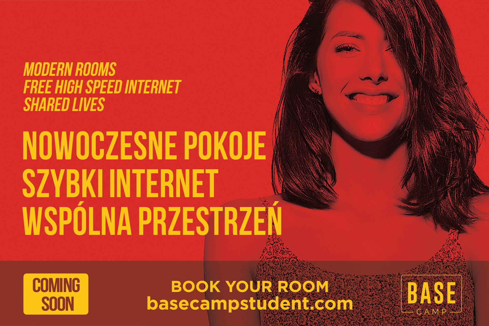 Basecamp Student reklama outdoor