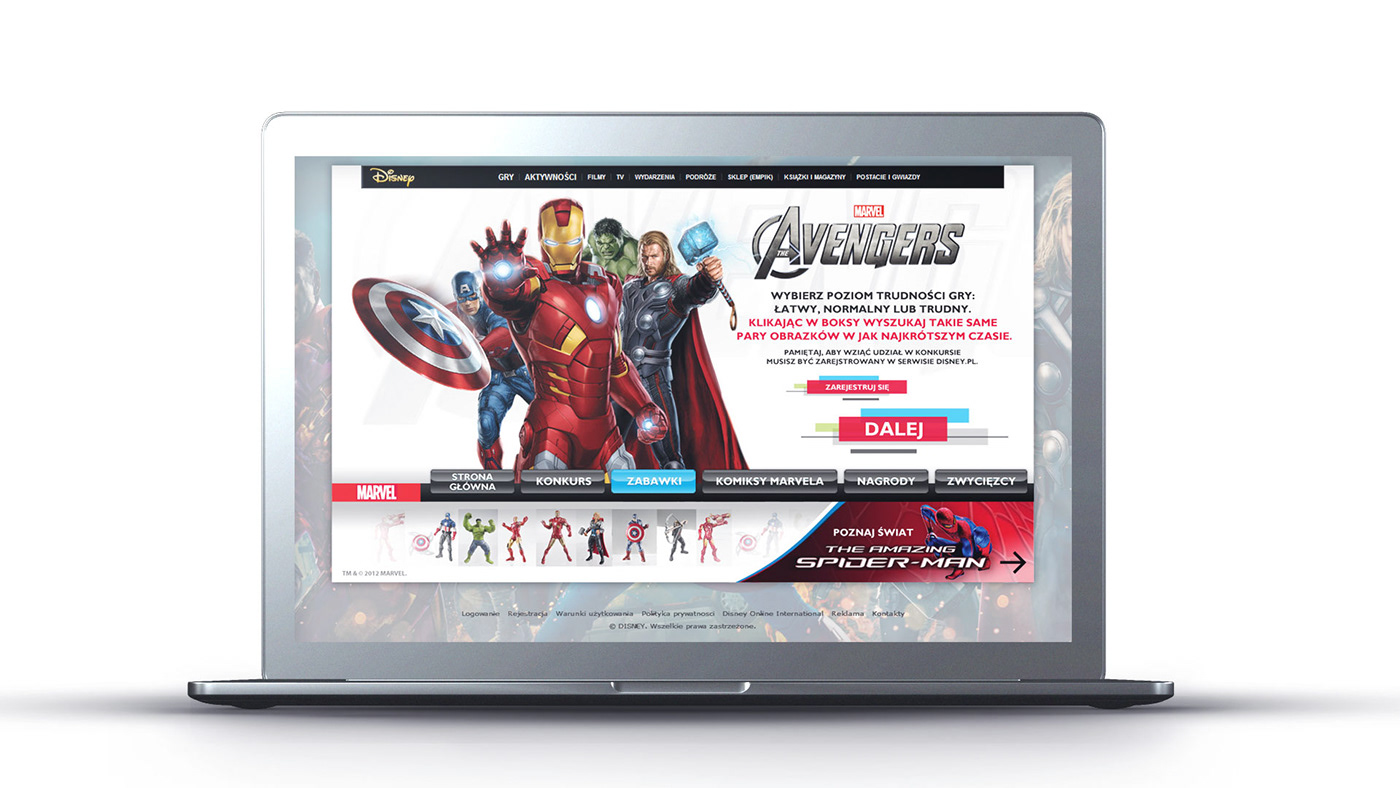 The Walt Disney Company konkurs Avengers