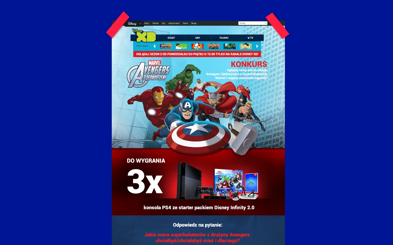 Landing Page Avengers